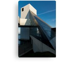 The Rock and Roll Hall of Fame from a slightly different perspective Canvas Print