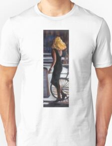 young blond woman in the street T-Shirt