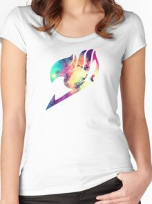 Galaxy Fairy Tail Logo Women's Fitted Scoop T-Shirt
