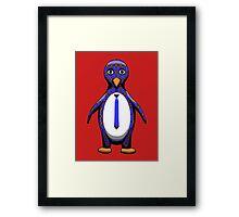 Argyle Penguin Framed Print
