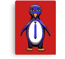 Argyle Penguin Canvas Print
