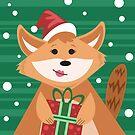 Christmas Fox by Sydney Eller