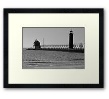 Grand Haven Lights on Lake MI Framed Print
