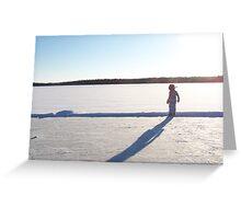 Winter lake rink Greeting Card