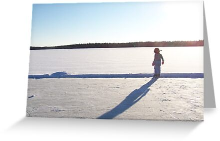 Winter lake rink by Nicole Gushue