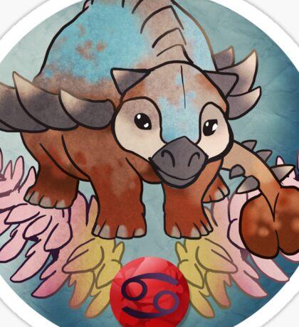 Cancer Dinosaur Zodiac Sticker