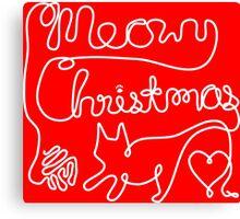 Meowy Christmas - Yarn Cat Love Canvas Print