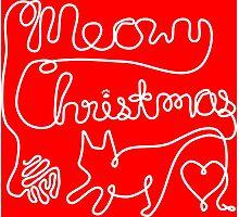 Meowy Christmas - Yarn Cat Love Photographic Print