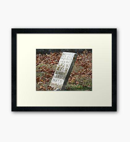 Fallen but not Forgotten Framed Print
