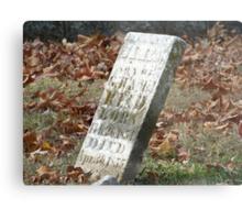 Fallen but not Forgotten Metal Print