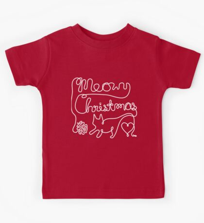 Meowy Christmas - Yarn Cat Love Kids Tee