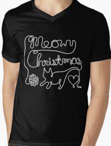 Meowy Christmas - Yarn Cat Love Mens V-Neck T-Shirt