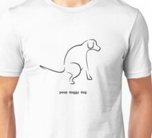 Poop Doggy Dog - Black Unisex T-Shirt