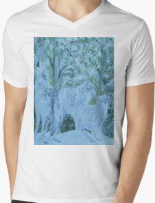 Snow Wolves Mens V-Neck T-Shirt