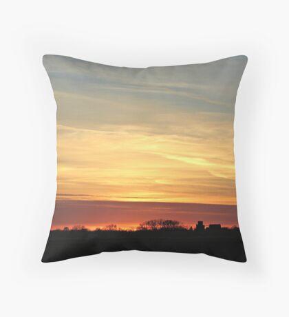 Prairie Glow Throw Pillow