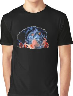 Pop Art Rottweiler Puppy Isolated Graphic T-Shirt
