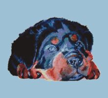 Pop Art Rottweiler Puppy Isolated Kids Clothes
