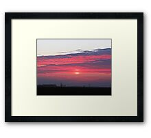 Clouds of Crimson Framed Print