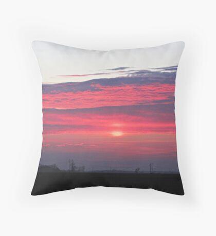 Clouds of Crimson Throw Pillow