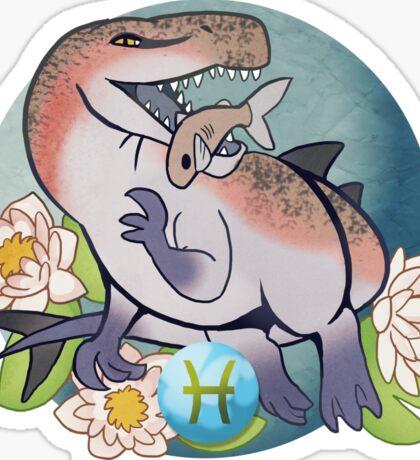 Pisces Dinosaur Zodiac Sticker