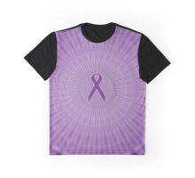 Purple Ribbon Circles: Fibromyalgia, Alzheimer's, Lupus Graphic T-Shirt