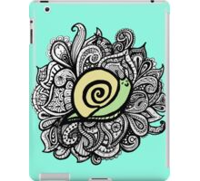 iPad Blue Paisley snail iPad Case/Skin