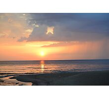 Shore Ocean Landscape Sunset Photographic Print