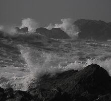 Rough and angry sea by Carolynn Cumor