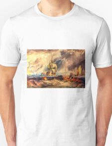 An Evening in Portsmouth Harbour 1825 Unisex T-Shirt