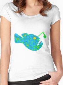 Angler Flower Women's Fitted Scoop T-Shirt