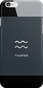 Apple Smart Phone Style with Astrology Aquarius Sign | by scottorz