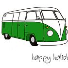 Kombi Xmas - Happy Holidays by Bami