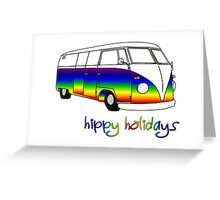 Hippy Christmas Card Greeting Card