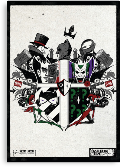 Criminal Coat of Arms- White by Onebluebird