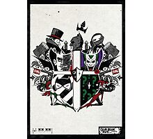 Criminal Coat of Arms- White Photographic Print
