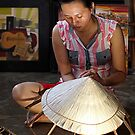 weaving conical hats by geof