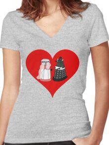 Dalek Wedding Women's Fitted V-Neck T-Shirt