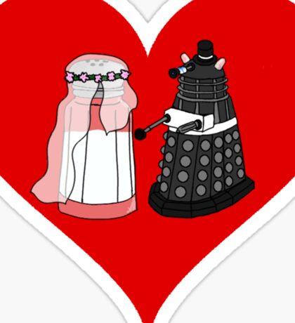 Dalek Wedding Sticker