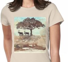 Gemsbuck in the shadows Womens Fitted T-Shirt