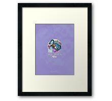 Aquarius Dinosaur Zodiac Framed Print