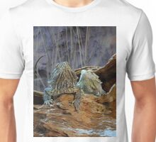 Two curious lizards Unisex T-Shirt