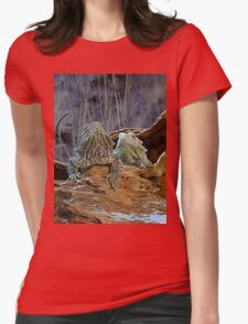 Two curious lizards Womens Fitted T-Shirt