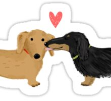 Dachshunds Love Sticker