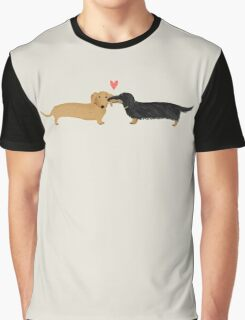 Dachshunds Love Graphic T-Shirt
