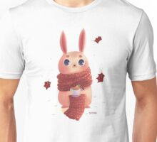 Bunny on red scarf Unisex T-Shirt