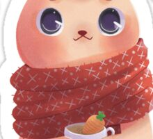 Bunny on red scarf Sticker