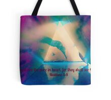 Matthew 5:8 Tote Bag