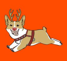 Rudolph the Red Nosed Corgi by Blutfuss