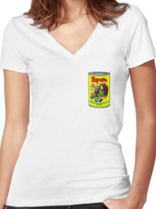 POPEYE MUSCLE MAN TEE Women's Fitted V-Neck T-Shirt