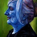 Woman in blue by Edward Ofosu